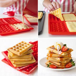 Forma de silicone Tupperware para fazer waffles