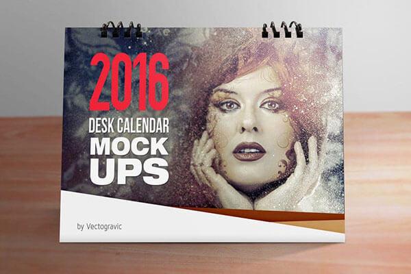 Mockup PSD Kalender 2019 Terbaru - Desk Calendar Mockups