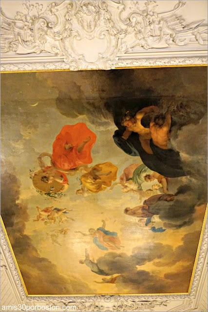 Pintura del Techo de la Sala de Estar de la Mansión The Elms en Newport