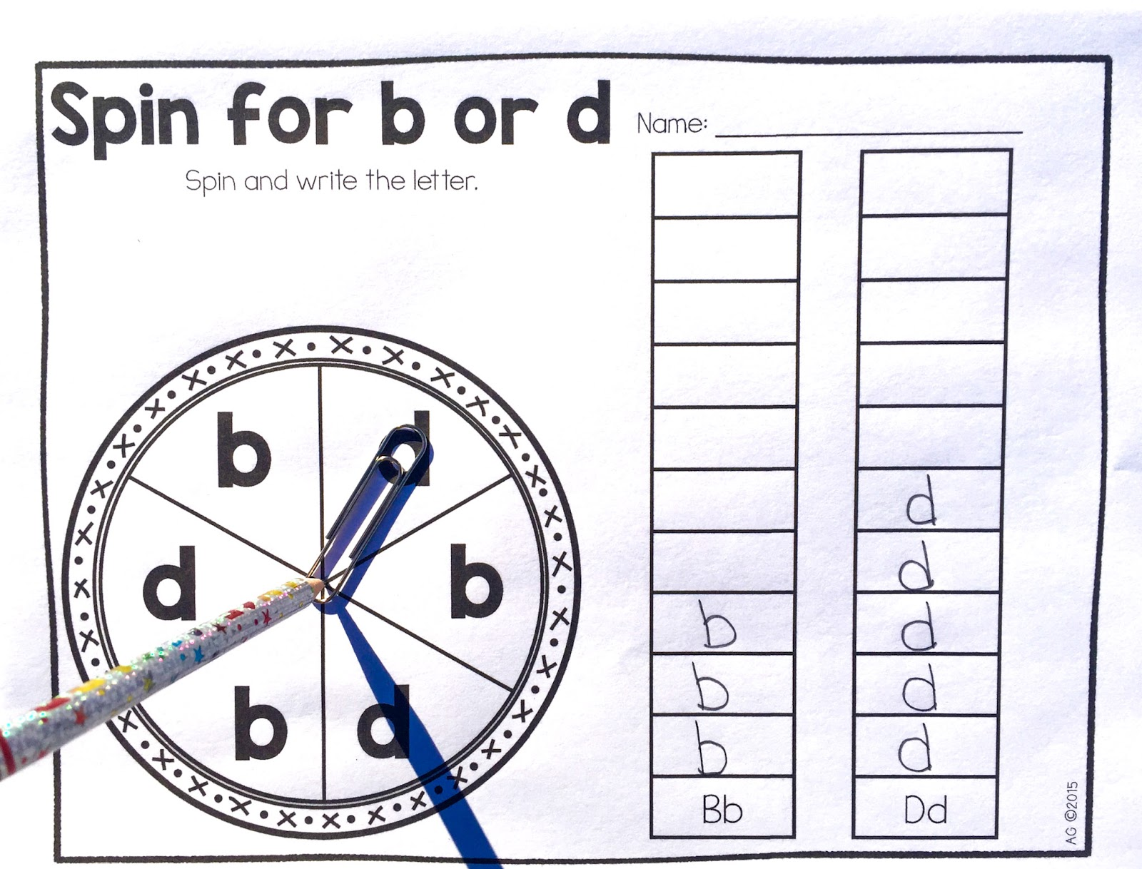 Extra Special Teaching Helping B And D Reversals Freebie