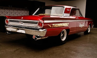 1963 Ford Fairlane 500 Thunderbolt Burgundy Color Re-Modified Rear