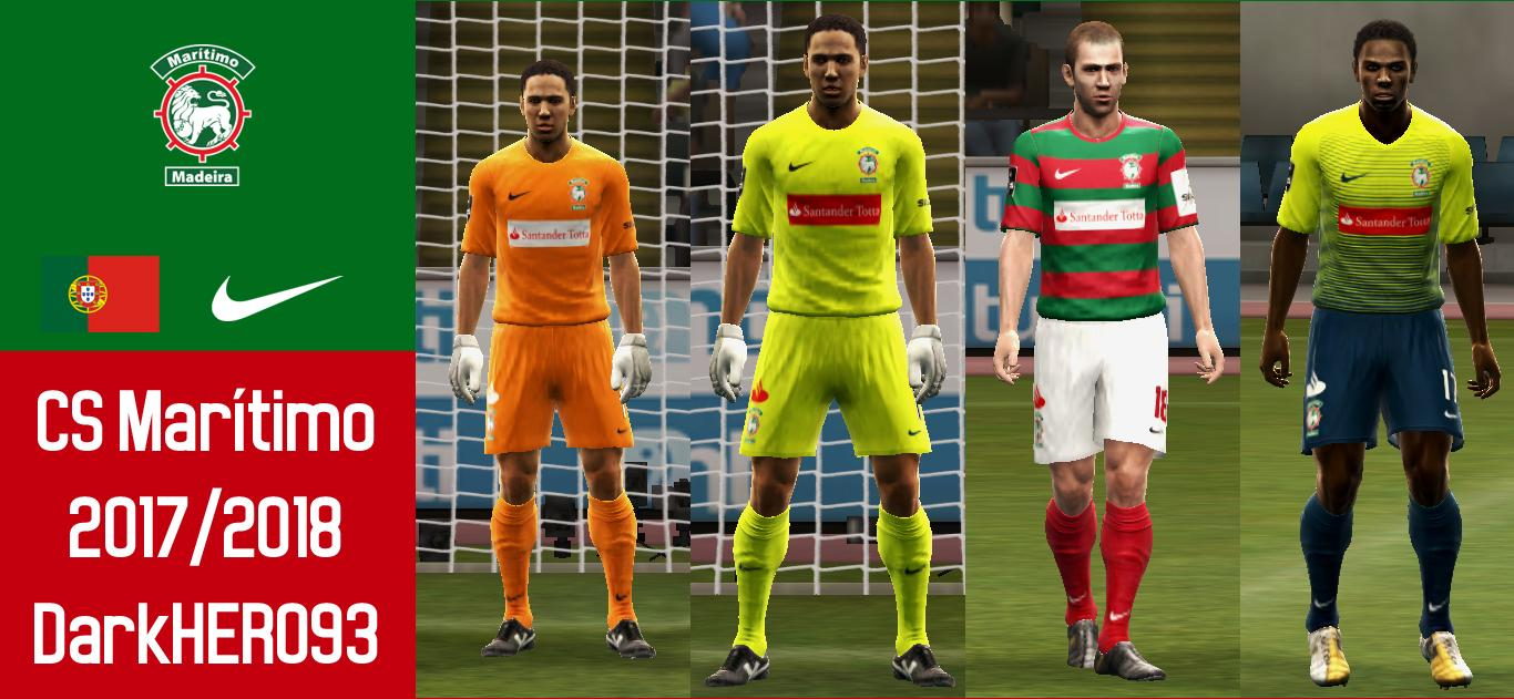 PES 2013 CS Marítimo 2017-18 Kits by DarkHERO93