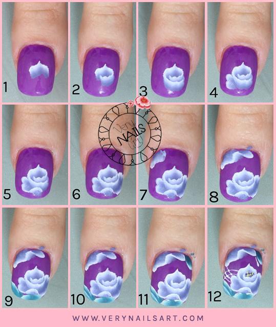 10 Formas de hacer flores en las uñas