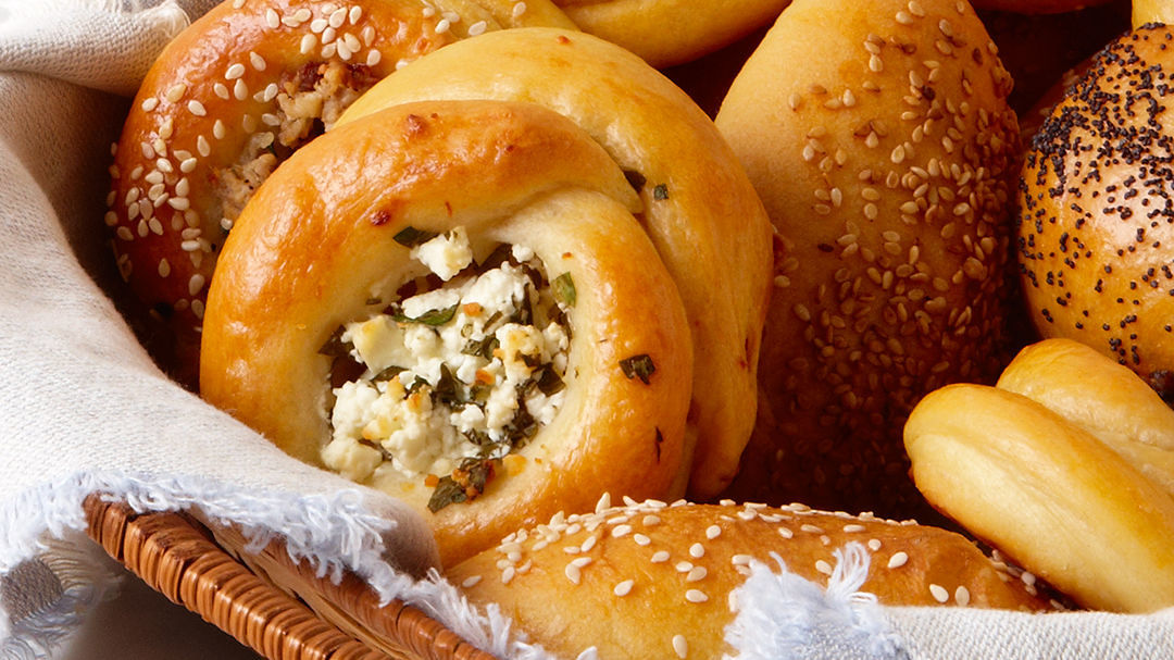 Feta-and-Herb-Filled Pogaca Rolls