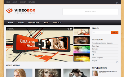 VideoBox Blogger Template
