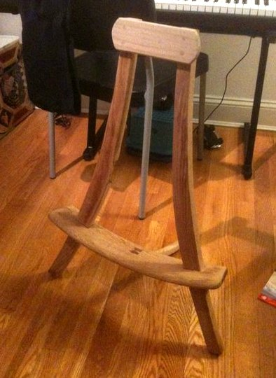 Swing made from an old chair diy remove legs paint drill holes - Dishfunctional Designs Upcycled New Uses For Old Chairs