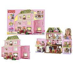 Fisher Price Loving Family Grand Dollhouse with Bonus Pack Walmart