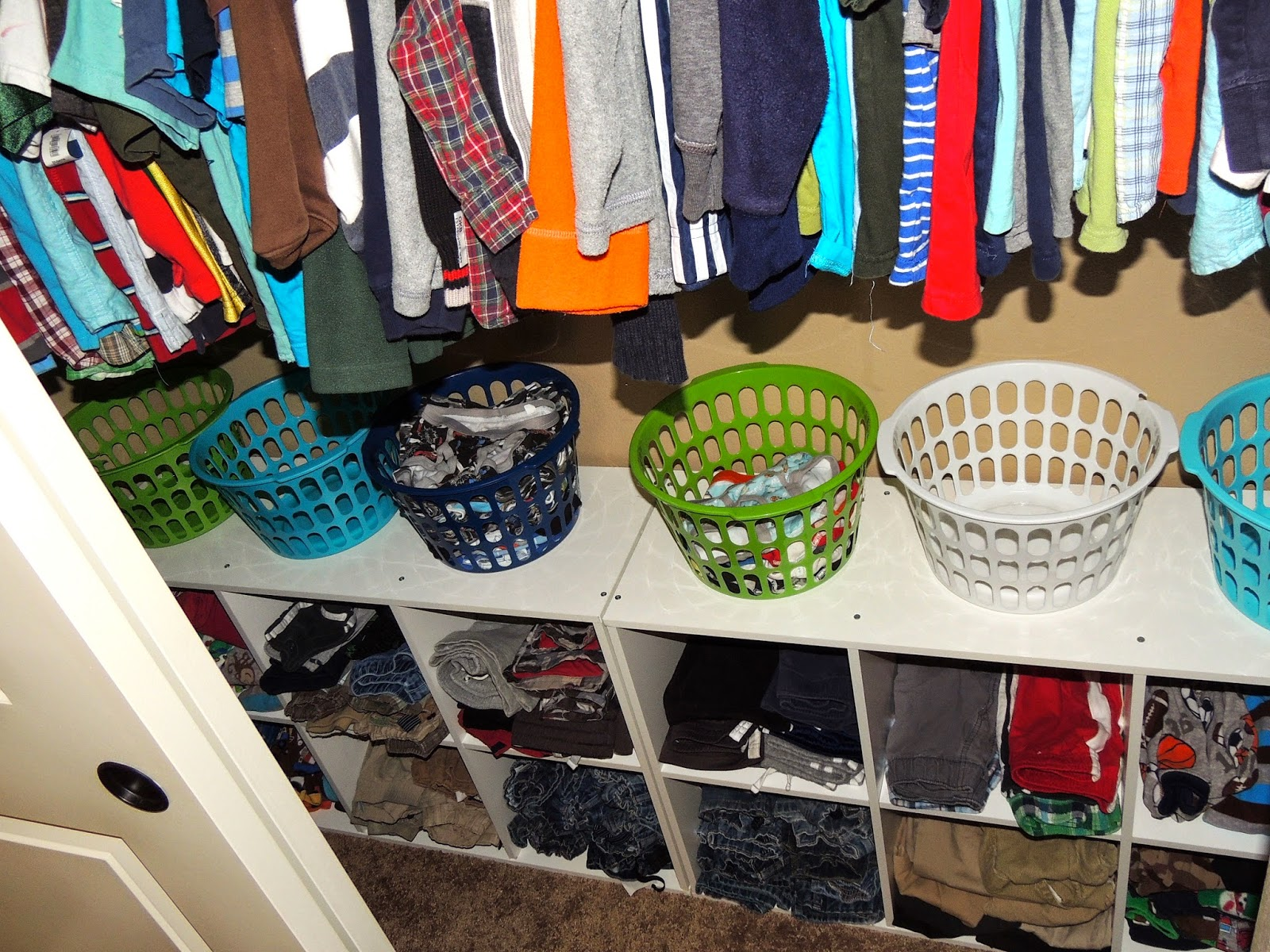 Carrie Dahlin Back To School Closet Organization Pretty Wire Mesh Drawers For Folded Clothes In