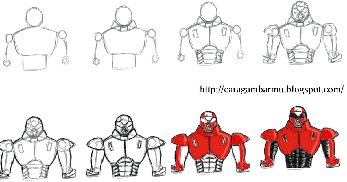 Cara dan Teknik Menggambar untuk Pemula: Bentuk robot