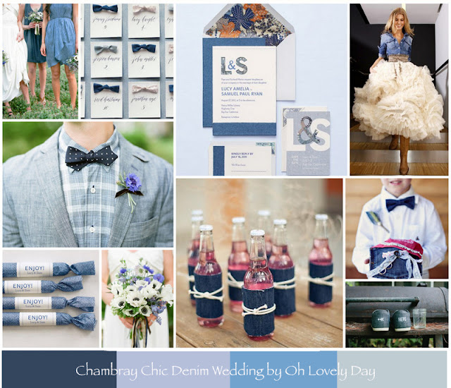 chambray chic denim wedding by oh lovely day