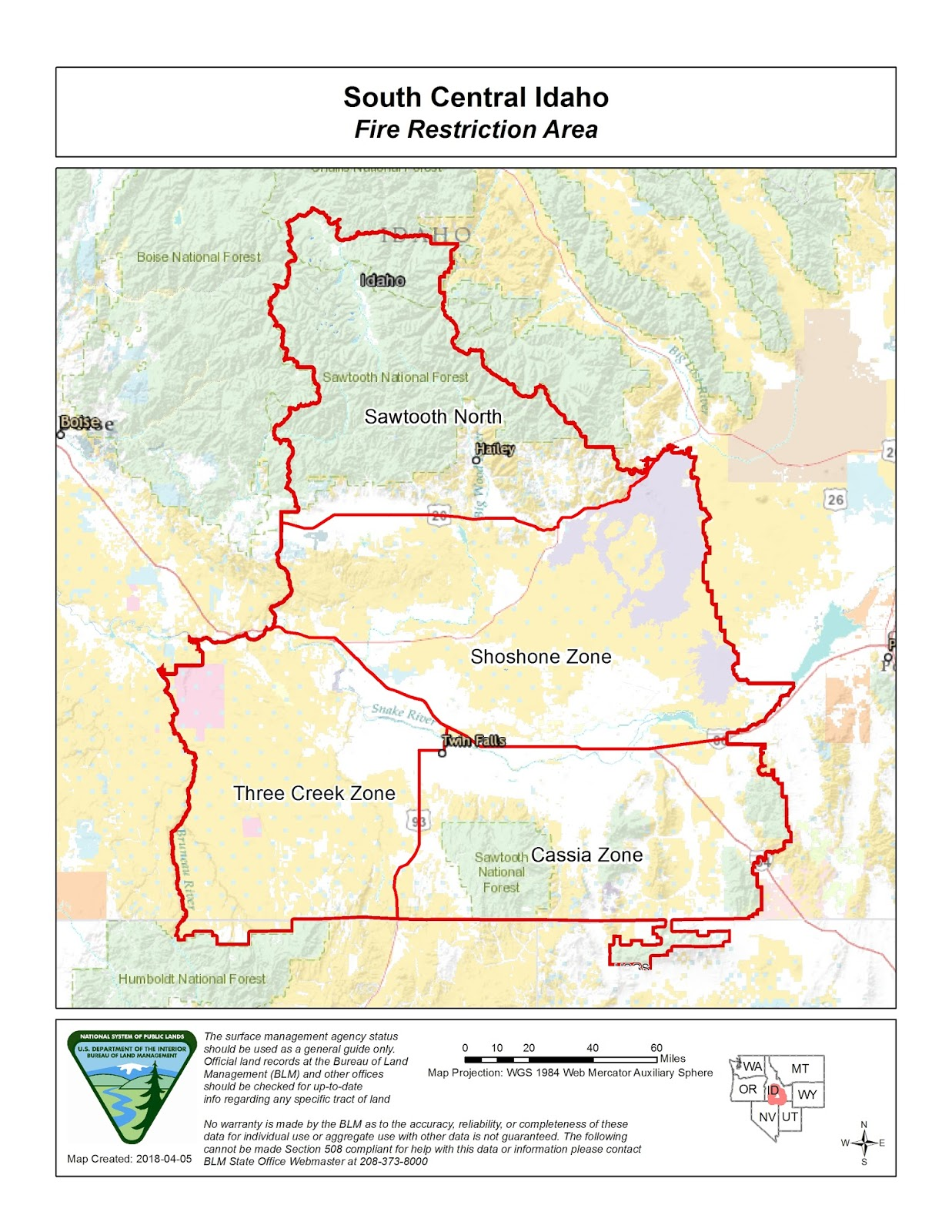 Idaho Fire Information: South Central Fire Restrictions Area on idaho rivers, idaho location on map, idaho county map, idaho blm maps, idaho nrcs mlra map, idaho natural resources map, boulder city idaho map, idaho department of lands map, u.s. federal land map, idaho hunting map, idaho most beautiful, kootenai county snow load map, idaho sand dunes map, idaho unit 28 elk population, new mexico blm land map, kootenai county zoning map, idaho land use map, idaho big game unit map,