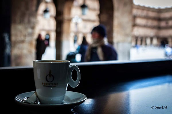 Un café en la Plaza Mayor de Salamanca