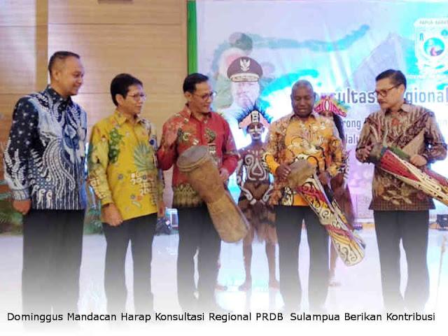 Dominggus Mandacan Harap Konreg PRDB Sulampua Berikan Kontribusi