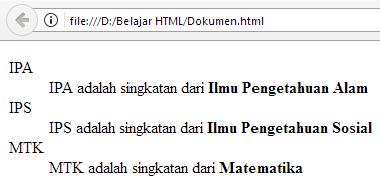 Belajar HTML Bagian 9 : Membuat Daftar di HTML 15