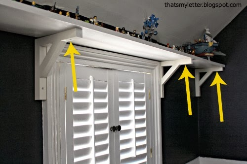 attach shelf to brackets