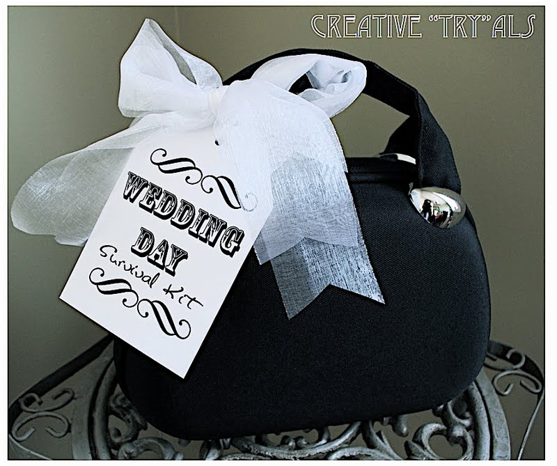 """Wedding Day Gift For Bride: Creative """"Try""""als: Wedding Day Survival Kit"""