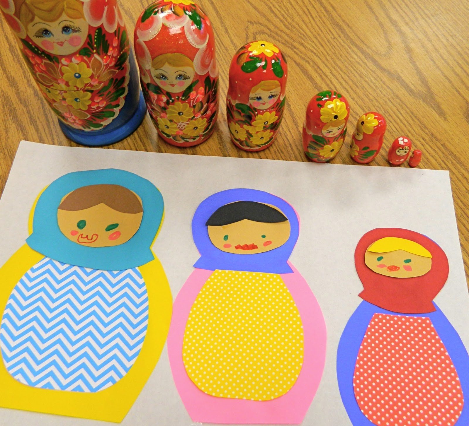 The Vintage Umbrella Nesting Doll Art Project