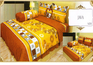 sprei lady rose motif Java
