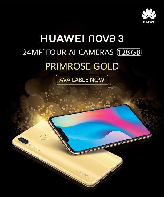 HUAWEI nova 3 Primrose Gold