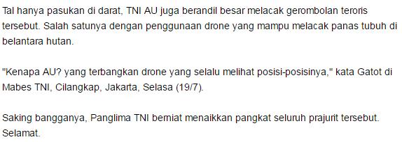 Sungguh Kolaborasi yang luar biasa, Drone Di Udara Untuk Memantau Posisi Target dan Tim Raider Melakukan Serangan Mendadak :D dan akhirnya santoso pun meregang nyawa - Commando
