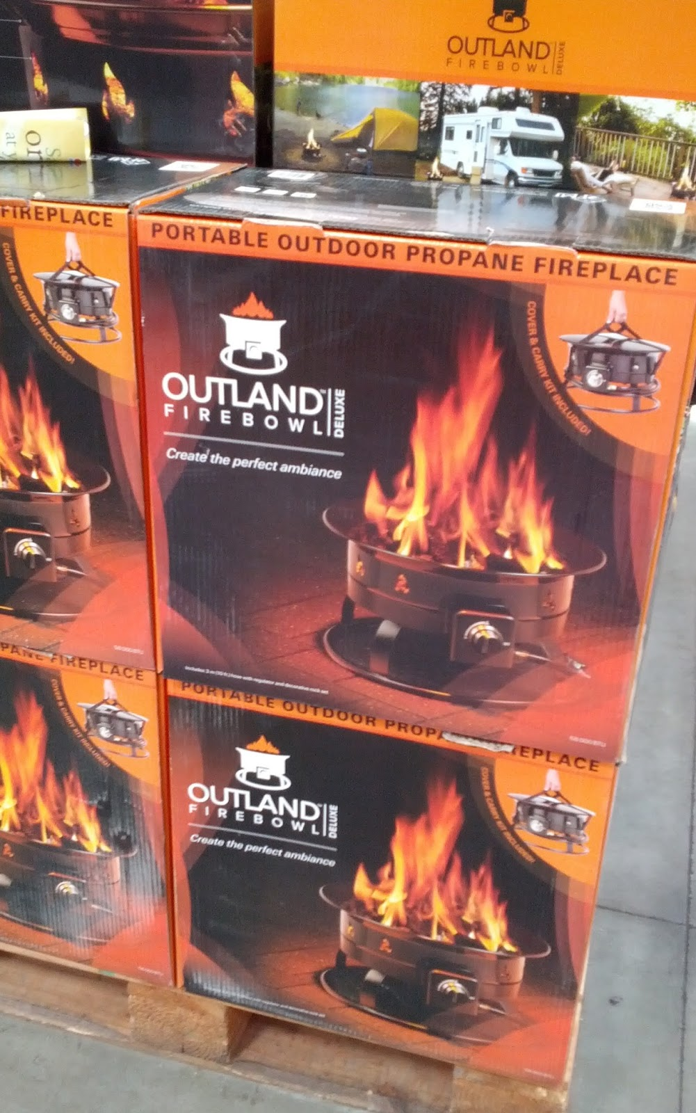 Outland Firebowl Deluxe Portable Firepit Costco Weekender