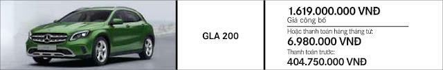 Giá xe Mercedes GLA 200 mạnh mẽ ưu đãi bất ngờ