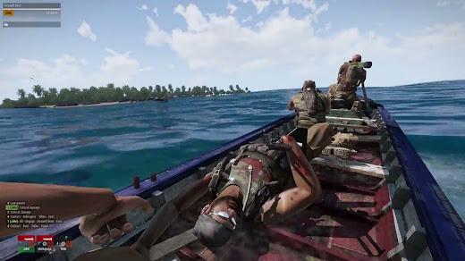 Arma3の小型木造漁船に乗れるスクリプト