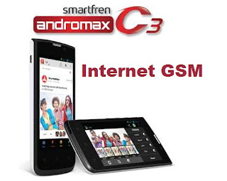 Cara Internet GSM di Andromax C3