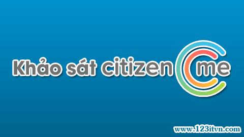Khảo sát kiếm tiền cùng Citizenme