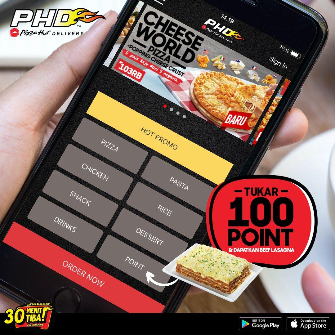 PHD - Promo Tukar 100 Point Dapatkan Beef Lasagna Pakai Aplikasi PHD