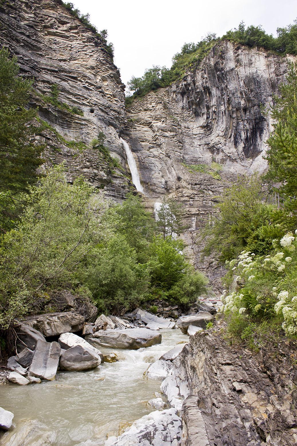Waterfall in Broto