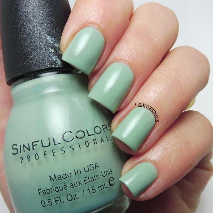 Smalto verde acqua Sinful Colors Open Seas dusty aqua green nail polish