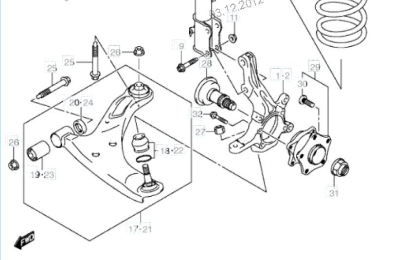 Заметки fraks: Передняя подвеска Suzuki Grand Vitara