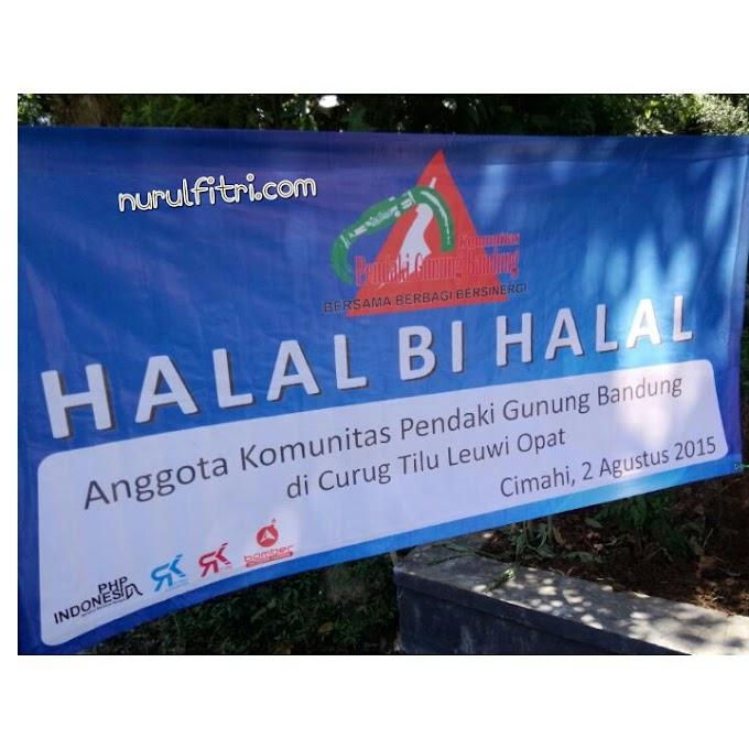 Halalbihalal Ala Pendaki Gunung di Curug Tilu Leuwi Opat - Cimahi