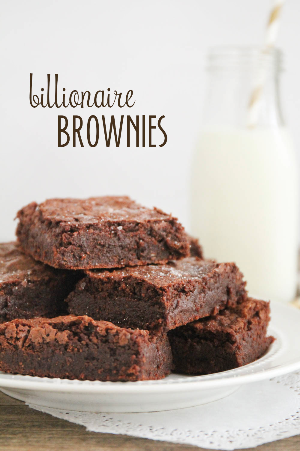 These billionaire brownies are amazing, life-changing, and over the top decadent. So rich and chocolatey, dense and fudgy, and just all around perfect!