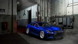 Blue Lexus RC F