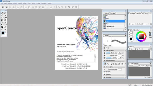 OpenCanvas 6.2 Full (Conviértete en un artista digital)