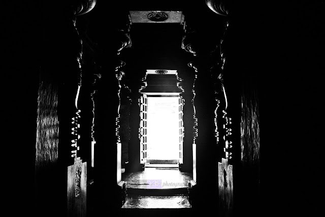 Play of Light and Shade inside the temple