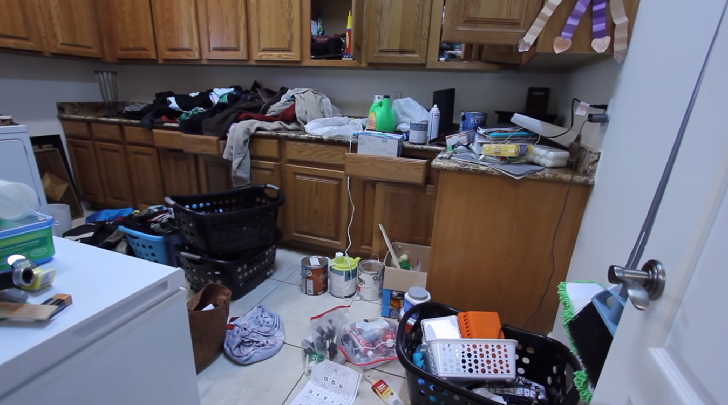 Home in a mess