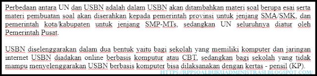 Soal USBN PAI SMA Tahun 2018/2019