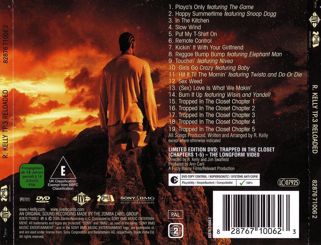 Encartes Pop Encarte R Kelly Tp 3 Reloaded Limited Edition
