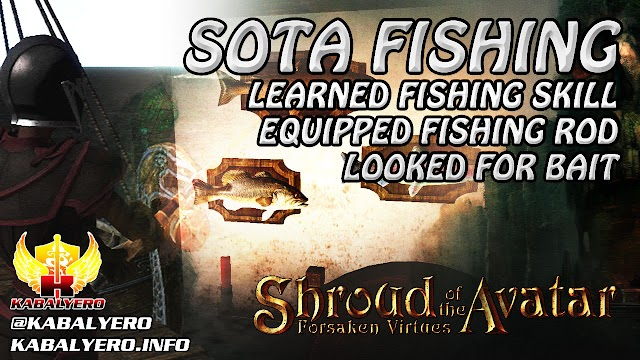 SOTA Fishing ★ Fishing Skill, Fishing Rod & Looked For Bait ★ Shroud of the Avatar Gameplay 2016