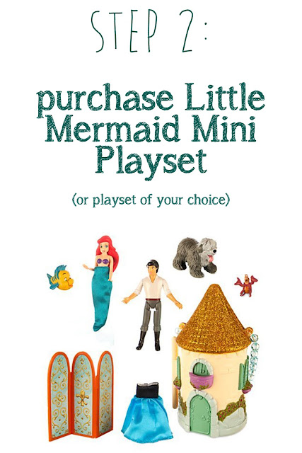 DIY Little Mermaid Cake using a Disney Mini playset