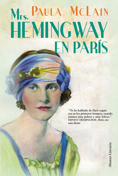 "Portada de ""Mrs. Hemingway en París"", de Paula McLain"