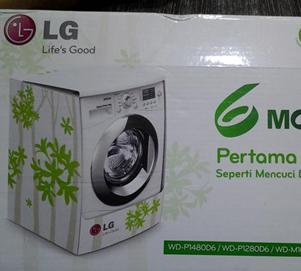 Mesin Cuci Langsung Kering Terbaik LG Wd-P1410rd6
