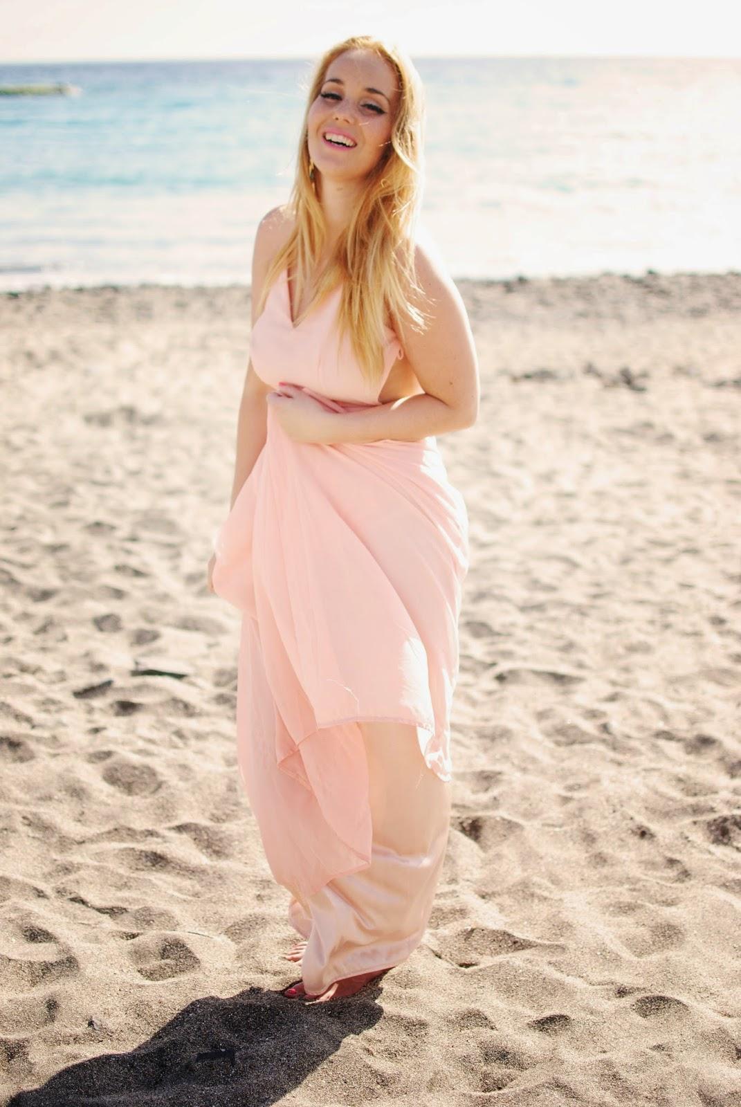long dress, nery hdez, backless, sheinside dress, summer look, persunmall earring