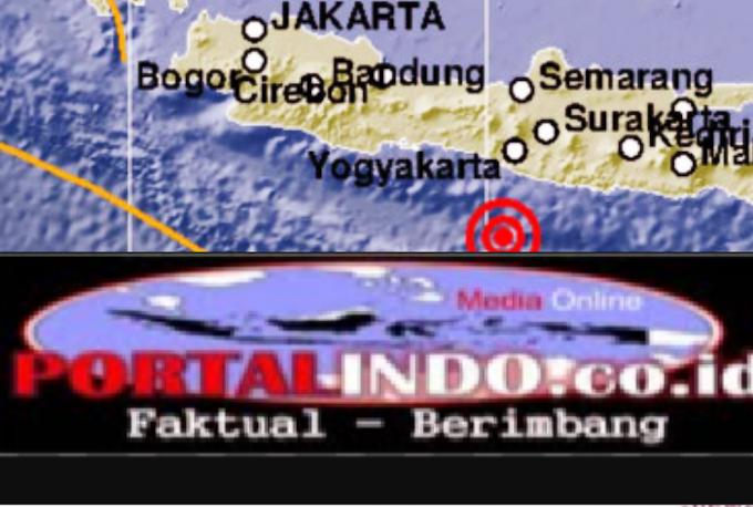 Gempa Berkekuatan 5,8 Skala Richter Guncang Yogyakarta