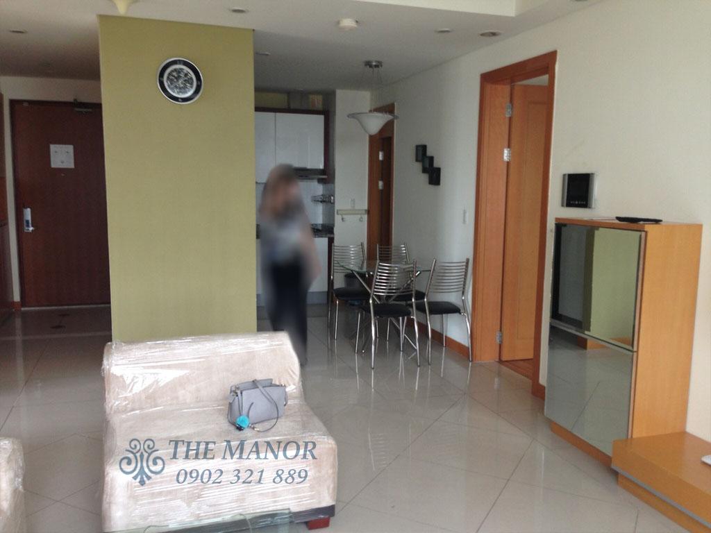 Căn hộ The Manor 100m2 cho thuê block AW tầng 24 full nội thất - hình 3