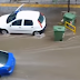 Θεσσαλονίκη: Κάδος απορριμάτων «βολτάρει» στην πλημμυρισμένη Τσιμισκή! (video)