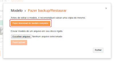 Blogger backup completo
